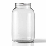 WIDE MOUTH CLEAR ONE GALLON GLASS