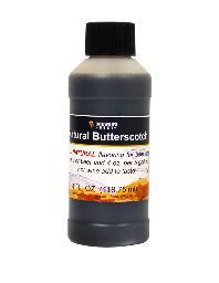 NATURAL BUTTERSCOTCH FLAVORING EXTRACT 4 OZ
