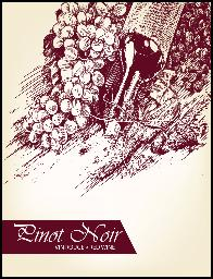 PINOT NOIR WINE LABELS 30/PACK