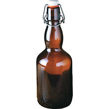 500 ml Amber Flipper Bottles case