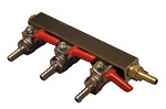 3-WAY GAS MANIFOLD WITH 1/4
