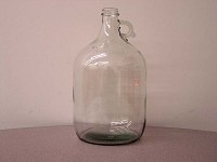 Clear 1-Gallon Glass Jugs